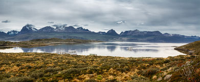 Bay in the Beagle channel - Land of Fire Royalty Free Stock Images