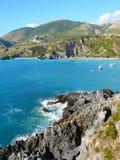 Bay, Praia A Mare. Beatiful blue bay near Scalea Royalty Free Stock Photo