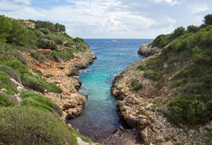 The bay. A beautiful bay in Majorca Royalty Free Stock Image