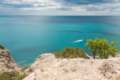 Bay. Beautiful seaside in Black Sea Royalty Free Stock Photo