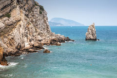 Bay. Beautiful seaside in Black Sea Royalty Free Stock Images