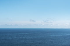 Bay of Biscay. Blue sky over Bay of Biscay Stock Photo