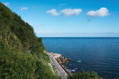 Bay of Biscay. Bay of Biscay coast at Donostia San Sebastian, Spain Royalty Free Stock Photos