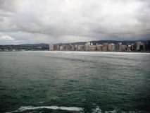 Bay of Biscay, Gijon, Spain Stock Images
