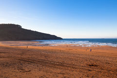 The Bay of Biscay near Bilbao, Spain in January Royalty Free Stock Photography