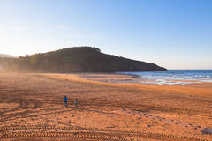 The Bay of Biscay near Bilbao, Spain in January Stock Images