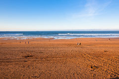 The Bay of Biscay near Bilbao, Spain in January Royalty Free Stock Images