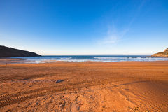 The Bay of Biscay near Bilbao, Spain in January Stock Image