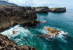 Bay of Biscay rocky coast, Spain. Royalty Free Stock Image