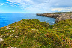Bay of Biscay rocky coast, Spain. Stock Photography