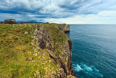 Bay of Biscay rocky coast, Spain. Royalty Free Stock Photo