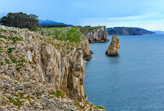 Bay of Biscay rocky coast, Spain. Stock Image