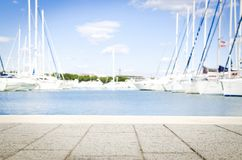 Bay, Blue, Boats royalty free stock image