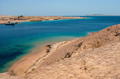 Bay with blue water in Ras Muhammad National Park Royalty Free Stock Images
