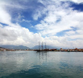 Bay with boats and yachts in Alanya Royalty Free Stock Photography