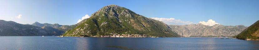 Bay of Boka Kotorska in sunny weather Royalty Free Stock Images