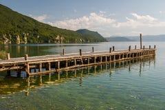 Bay of bones on Ohrid lake landscape Stock Photography