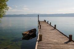 Bay of bones on Ohrid lake landscape Stock Images