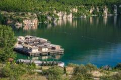 Bay of bones on Ohrid lake landscape Royalty Free Stock Images