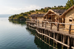 Bay of bones on Ohrid lake landscape Stock Photo