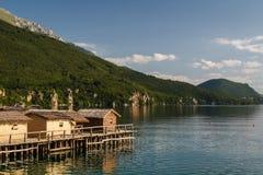 Bay of bones on Ohrid lake landscape Royalty Free Stock Photography