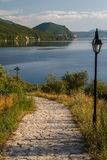 Bay of bones on Ohrid lake landscape Stock Photos