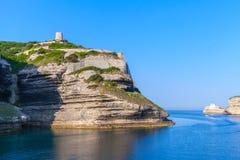Bay of Bonifacio, coastal landscape, Corsica Royalty Free Stock Images