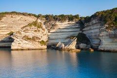Bay of Bonifacio, coastal rocks. Corsica Royalty Free Stock Photo