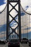bay bridżowi samochody zdjęcie royalty free