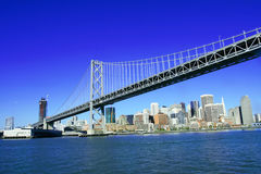 Bay Bridge. And downtown of San Francisco Stock Images