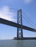 Bay Bridge. A view of the San Francisco Bay Bridge from the water Stock Photography