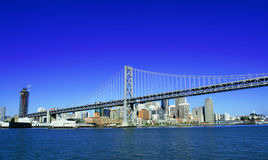 Bay Bridge And Downtown Of SF Royalty Free Stock Image