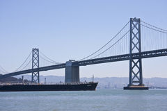 Bay Bridge Barge Stock Images