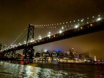 The bay bridge stock image
