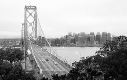 Bay Bridge Cars Speeding Rush Hour Commute San Francisco Stock Photography