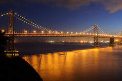 Bay Bridge at dusk Stock Photos