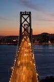 bay bridge francisco san Στοκ Εικόνες