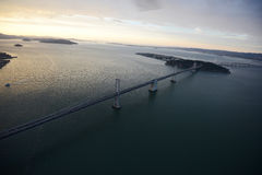 Bay bridge from helicopter Stock Image