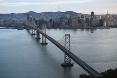 Bay bridge from helicopter Stock Photos