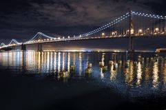 Bay Bridge In San Francisco, California Royalty Free Stock Photo