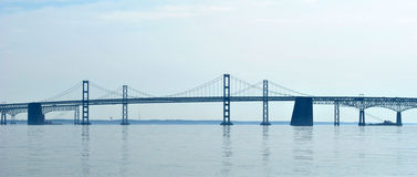 Bay Bridge in Maryland Royalty Free Stock Photography