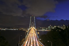Bay Bridge at Night Royalty Free Stock Image