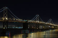 Bay Bridge at night. Image of San Francisco - Oakland Bay Bridge at night. View from Yerba Buena Island Royalty Free Stock Photography