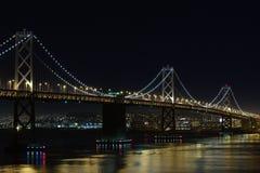 Bay Bridge at night Royalty Free Stock Photography