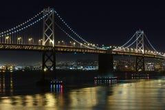 Bay Bridge at night Stock Image