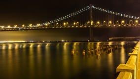 The Bay Bridge at Night Stock Photography