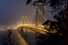 Bay Bridge at night. Bay Bridge in San Francisco Royalty Free Stock Images