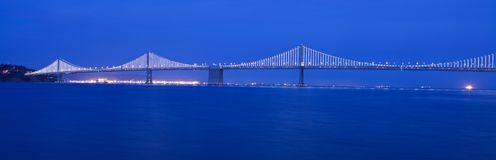 Bay bridge night. San Francisko bay bridge in Stock Photo
