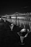 Bay Bridge at night Stock Photos