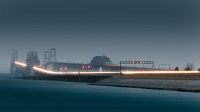 Bay Bridge, rainy evening Royalty Free Stock Images